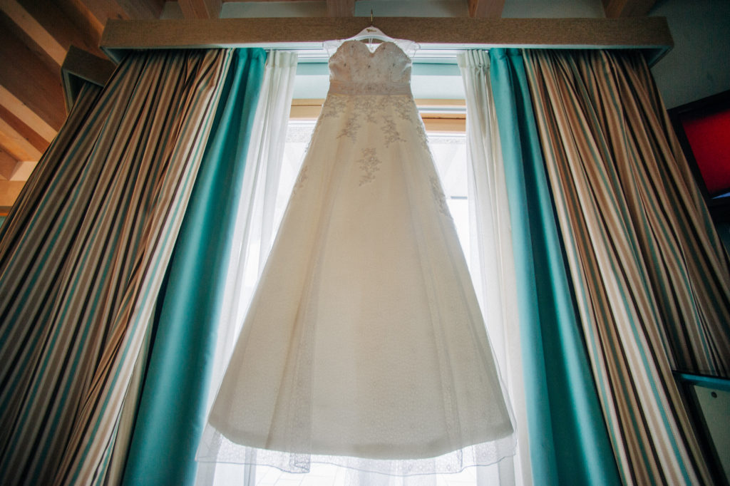 wedding dress - the different twins